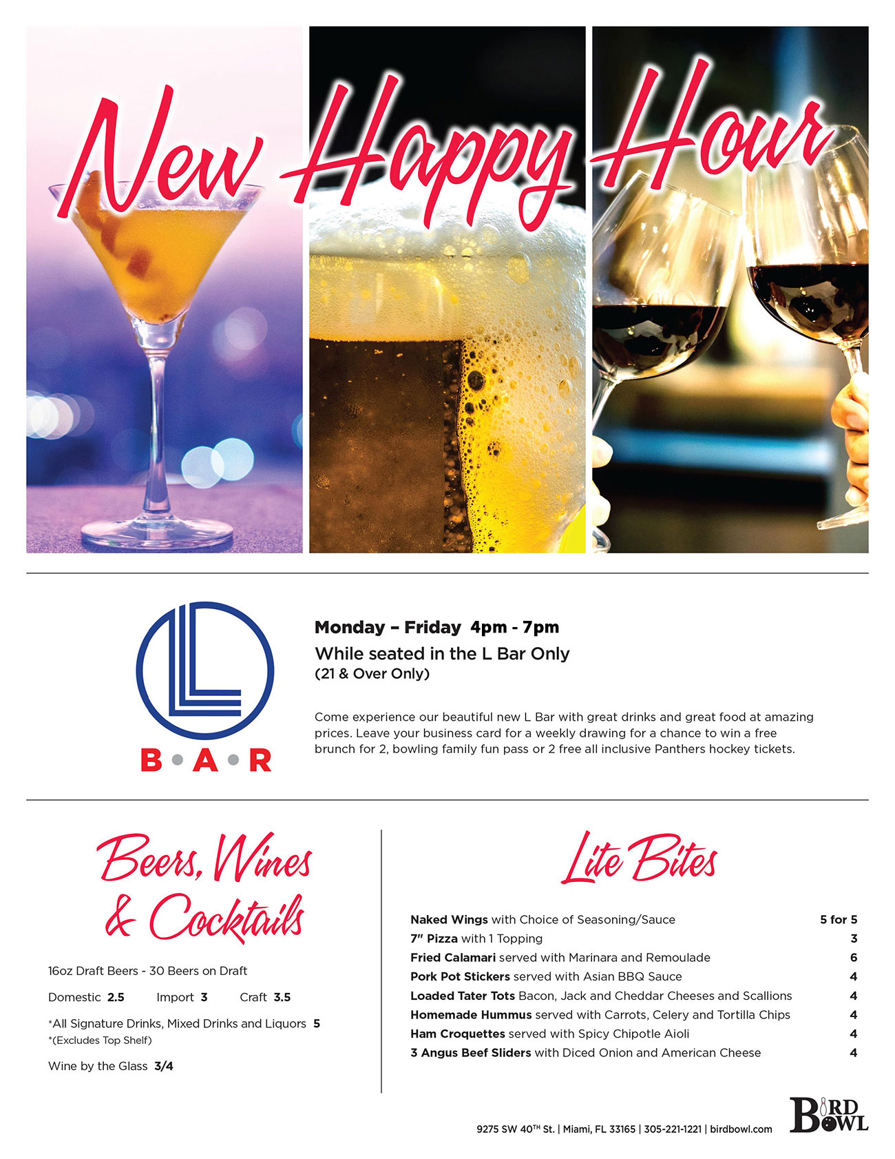 New Happy Hour Specials