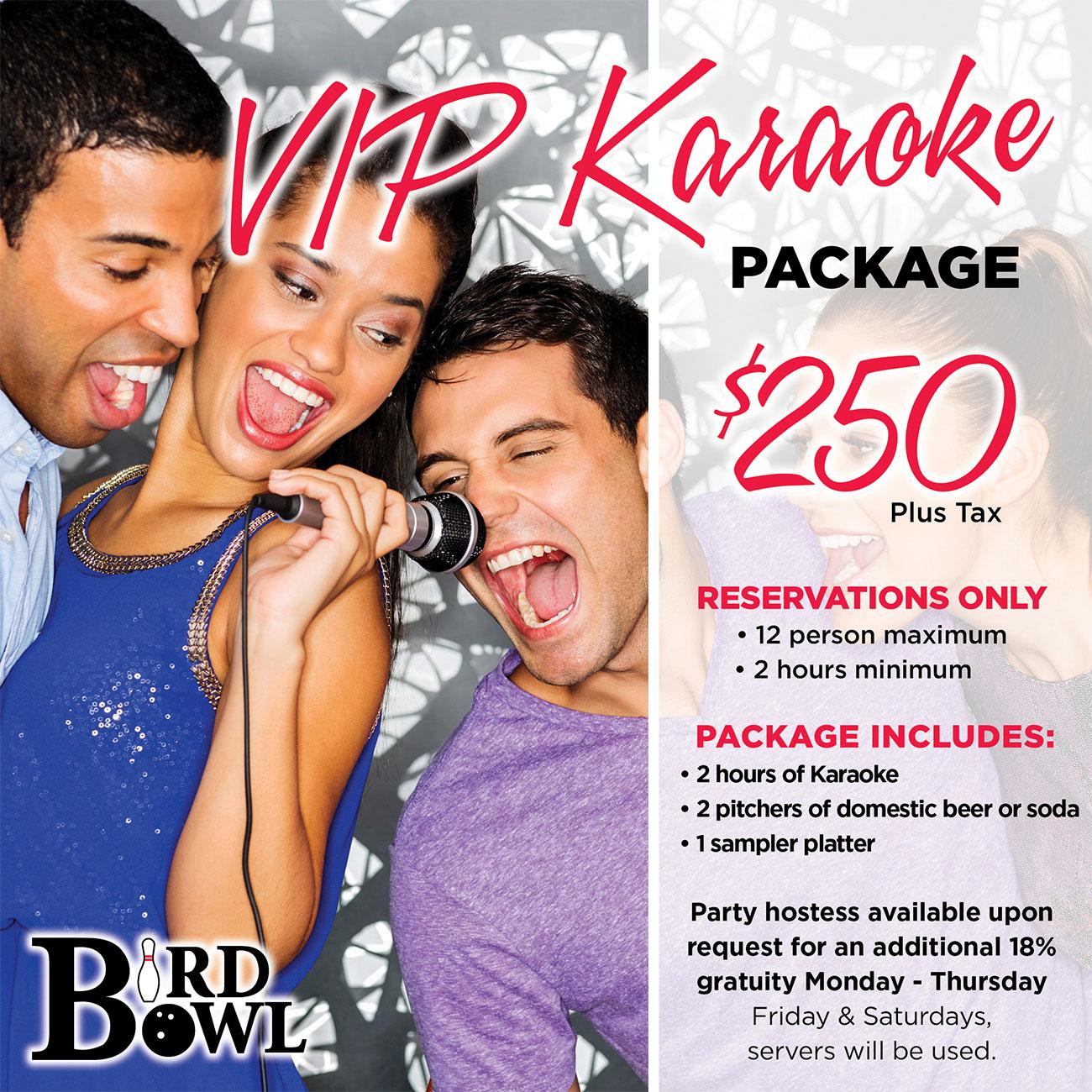 VIP Karaoke Packages