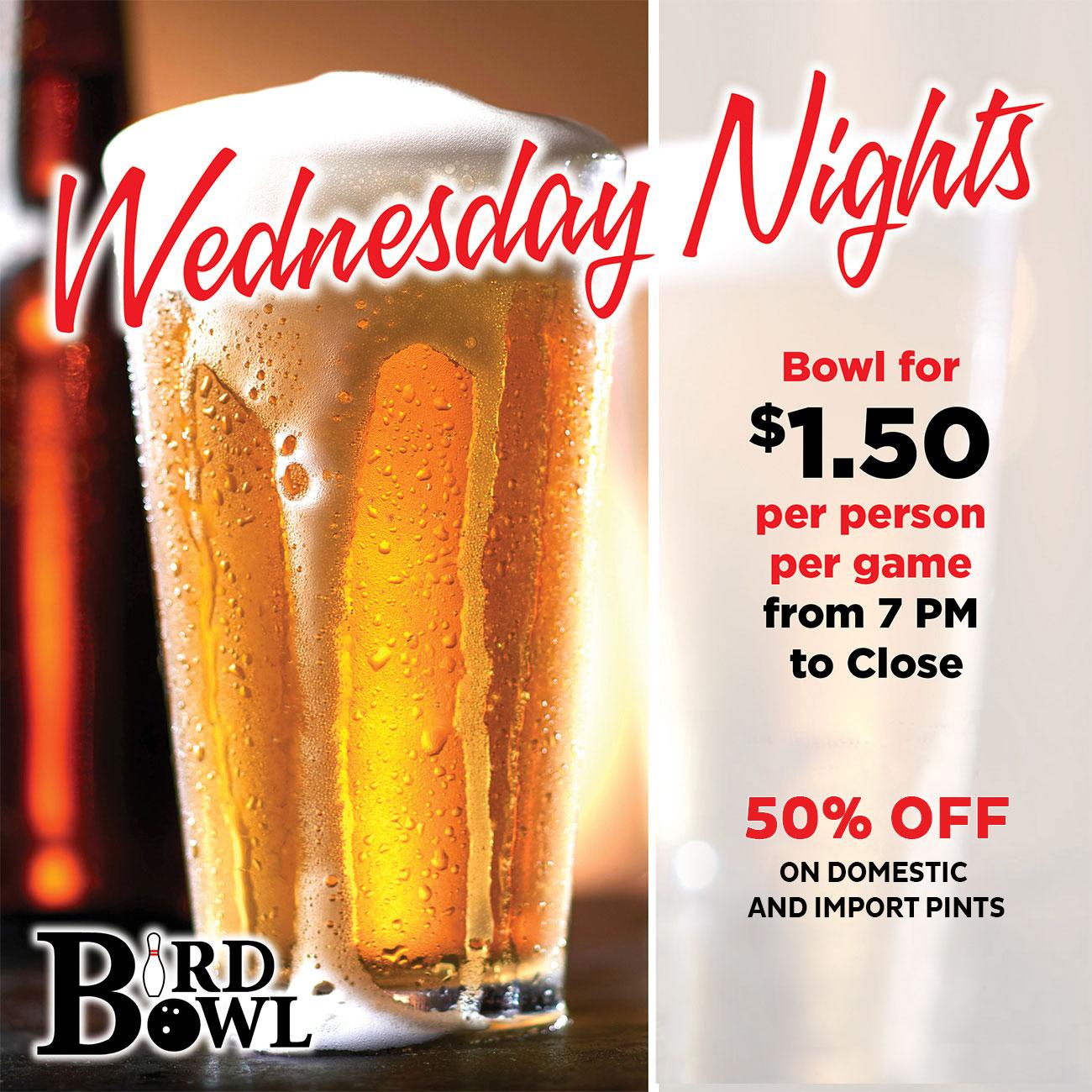 Wednesday Nights Specials