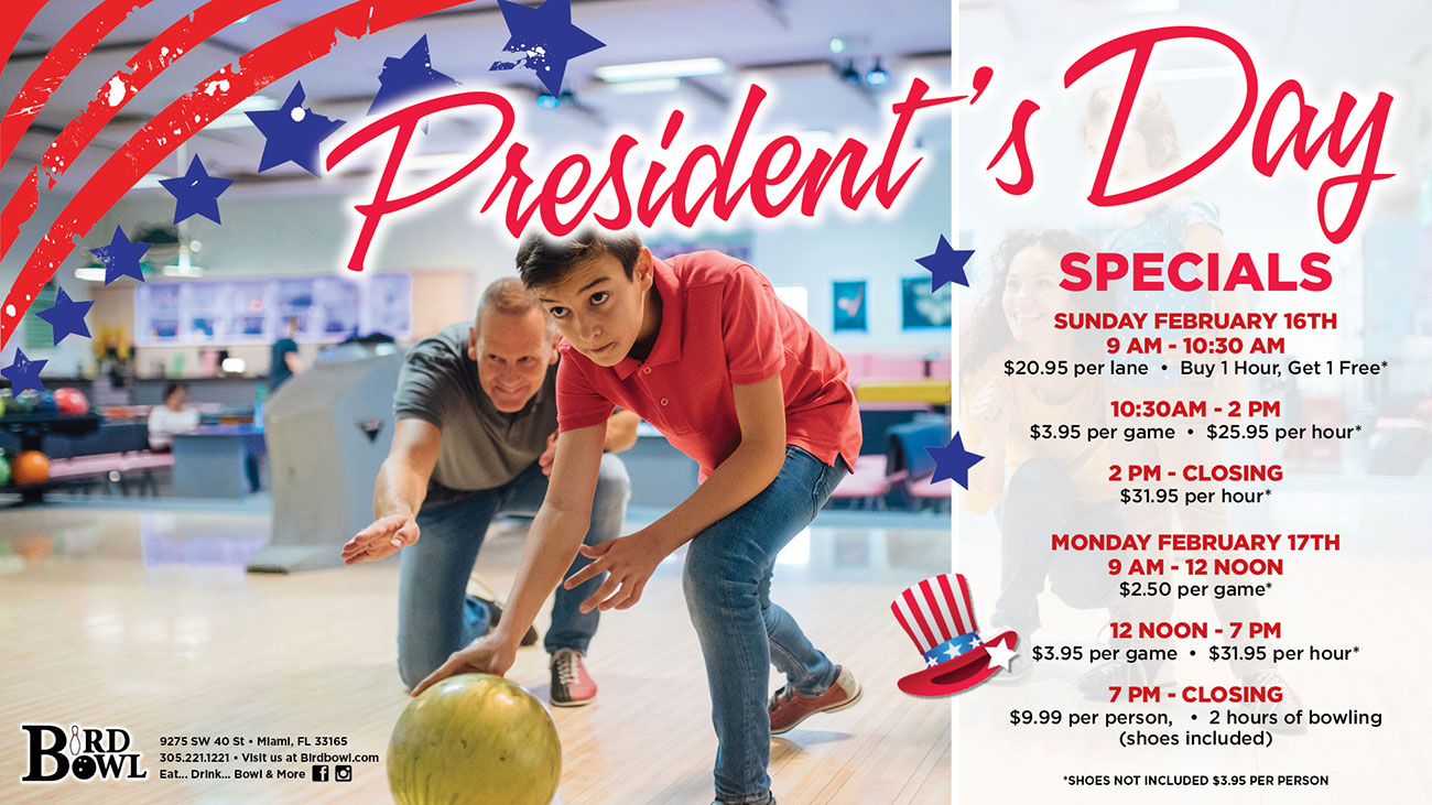 President's Day Specials
