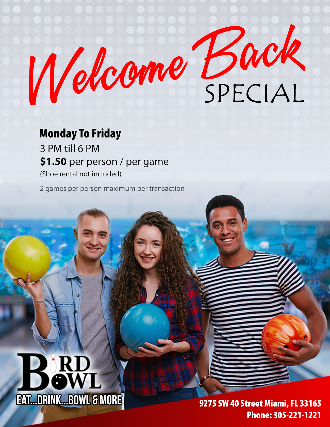Welcome Back Special Flyer