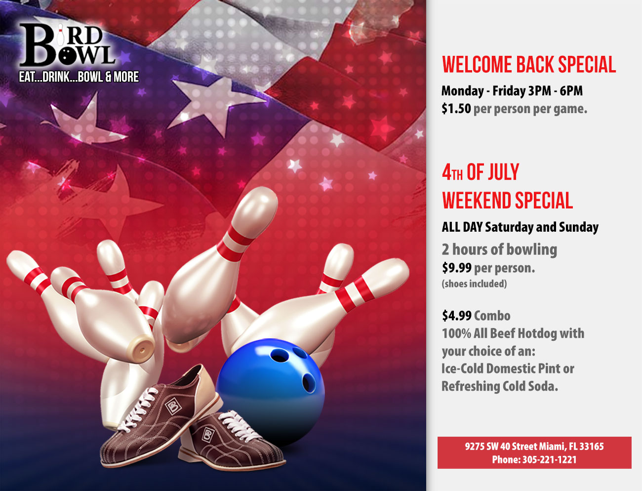 Welcome Back Special 4th July