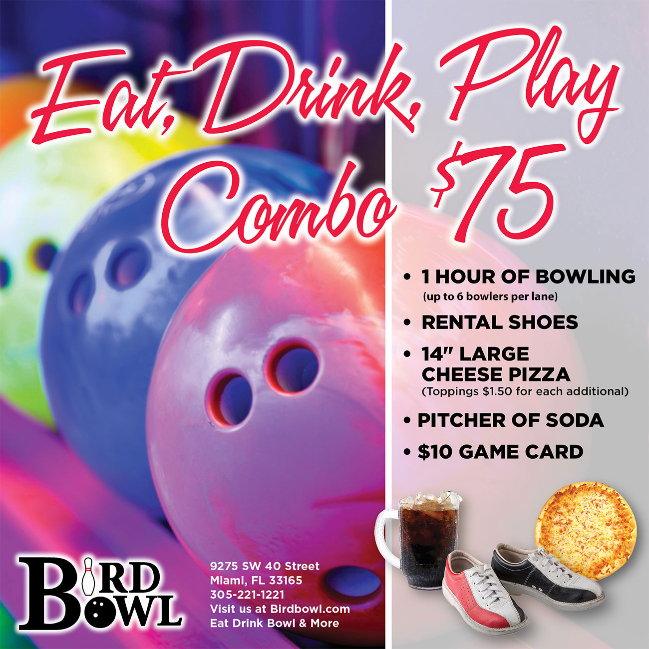 Eat, Drink, Play Combo